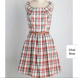 ModCloth: Daisy Afternoon Dress in Plaid